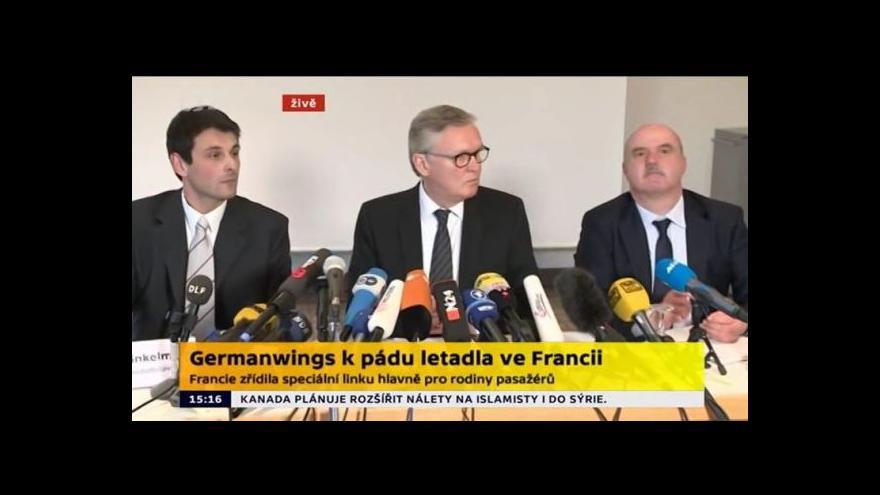 Video Germanwings: Zatím nevíme, co pád způsobilo