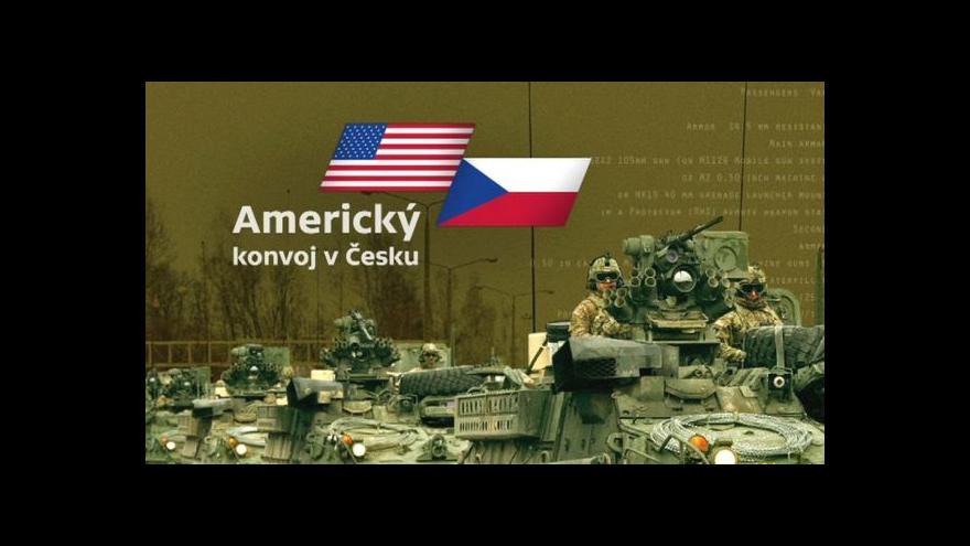 Video Speciál ČT24 k průjezdu amerického konvoje