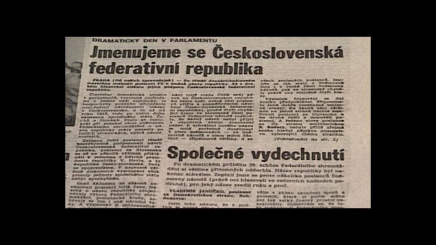 Video Pomlčková válka předznamenala konec Československa
