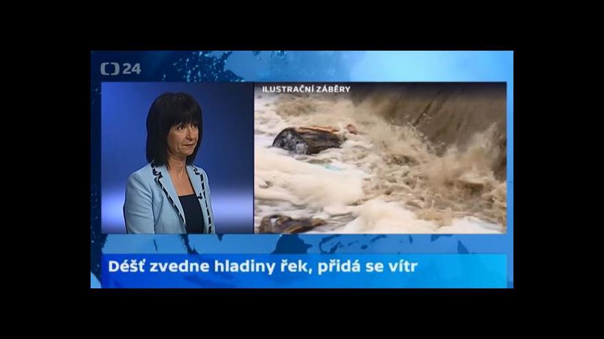 Video Meteoroložka ČT: V úterý opět stoupnou horské řeky