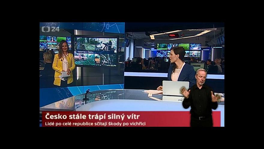 Video Studio ČT o větru v Česku a varování hydrometeorlogů