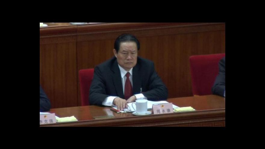 Video Čínský zátah proti korupci má zatím největší rybu