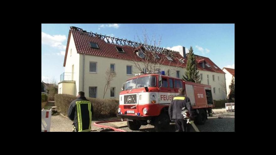 Video Reportáž: Požár zachvátil chystanou ubytovnu uprchlíků