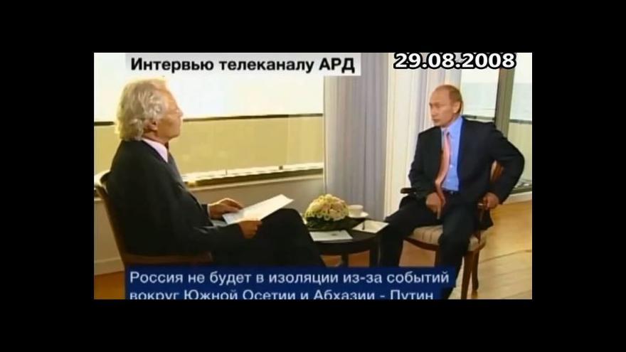 Video Putin v roce 2008: Krym je ukrajinský, ohledně hranic je vše jasné