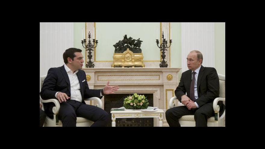 Video Tsipras na návštěvě v Moskvě o finanční pomoc nepožádal