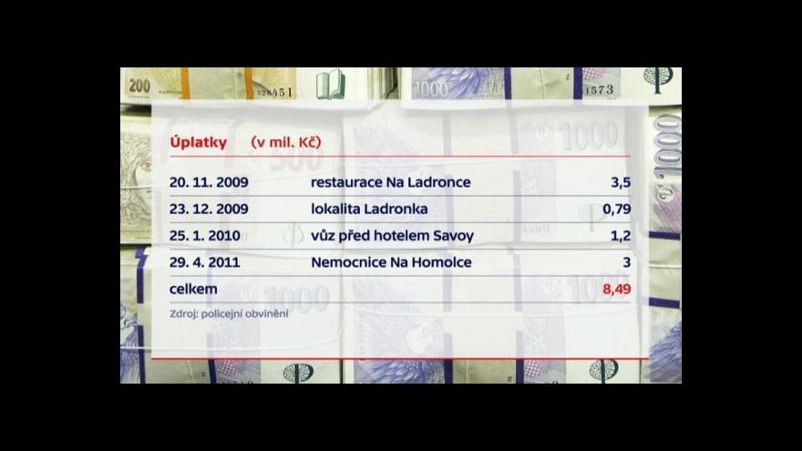 Video Podle policie si Dbalý zapisoval přesné částky i data