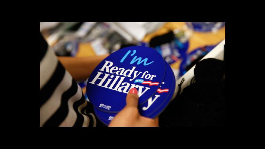 Video Clintonová bude kandidovat na prezidentku