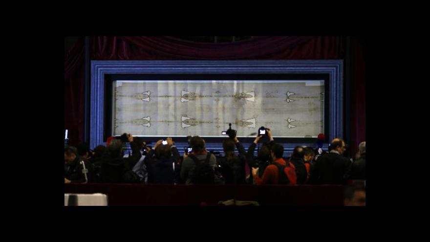 Video V Itálii vystavují Turínské plátno