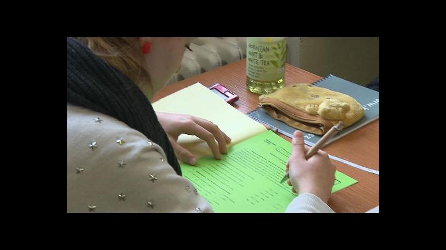 Video Události: Začaly přijímací zkoušky na SŠ