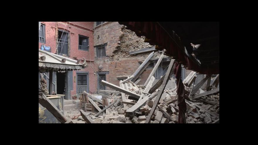 Video Otřesy proměnily vzácné centrum Káthmándú v trosky
