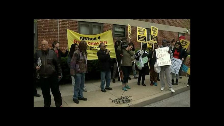Video Události: Násilí při rasových protestech v Baltimoru