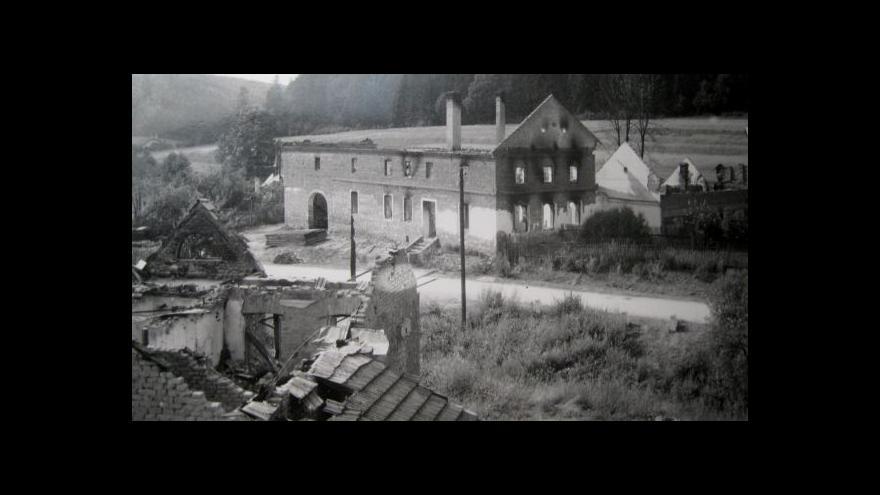 Video Lidé si připomněli 70 let od vypálení Javoříčka