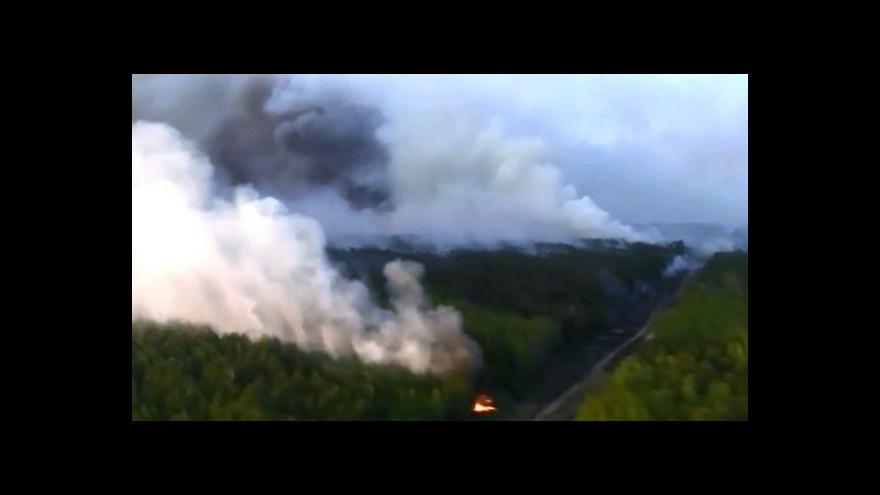 Video Požár v okolí Černobylu