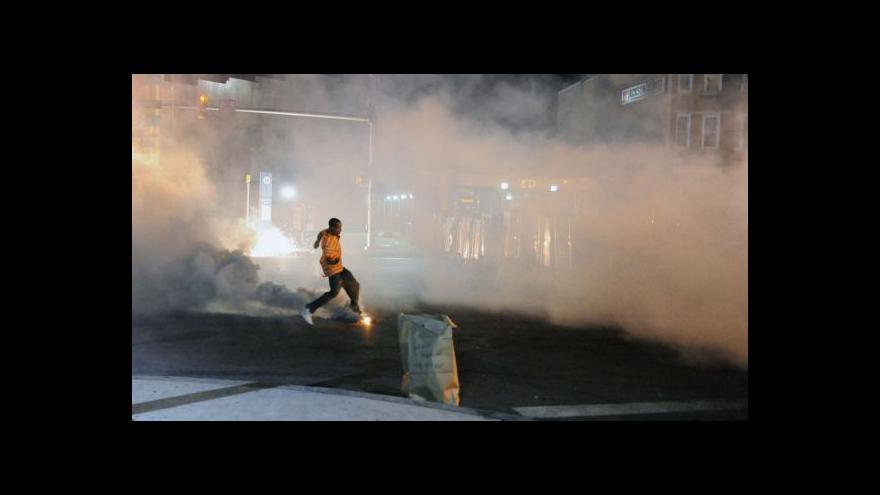 Video Nepokoje v Baltimoru jsou mírnější