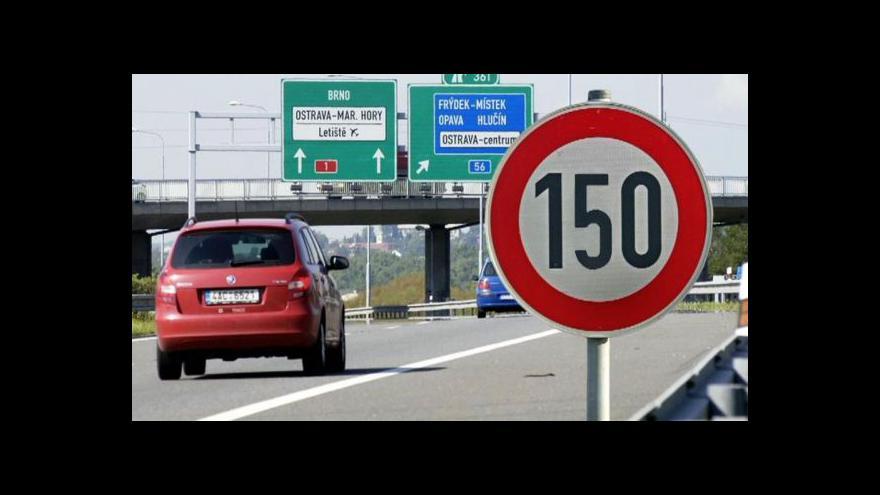 Video Prezident proti 150 km/h na dálnicích