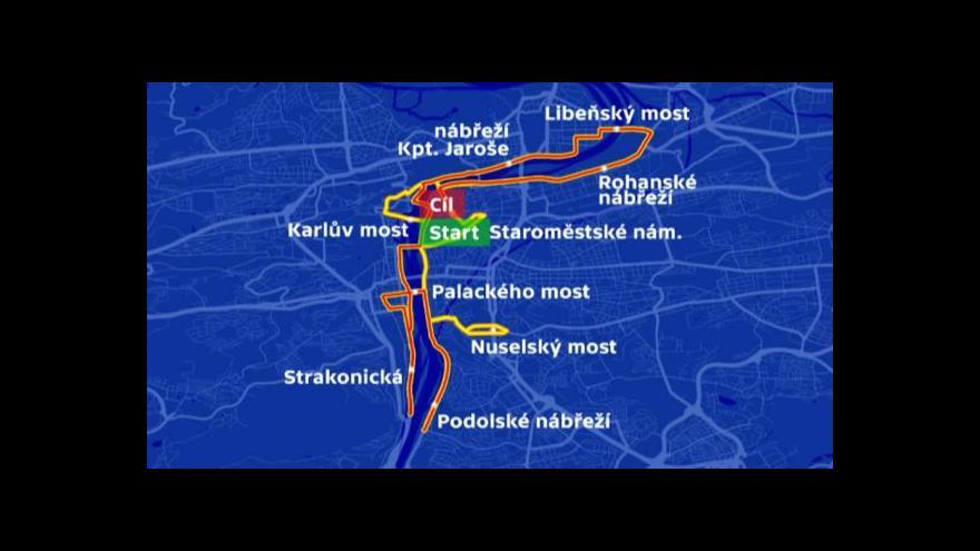 Video Pražský maraton ochromí dopravu