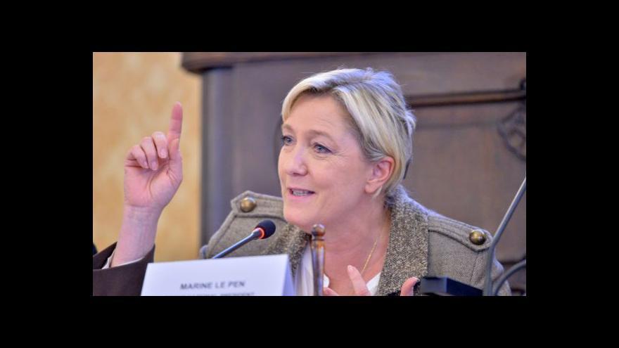 Video Marine Le Penová v Praze ostře kritizovala Evropskou unii