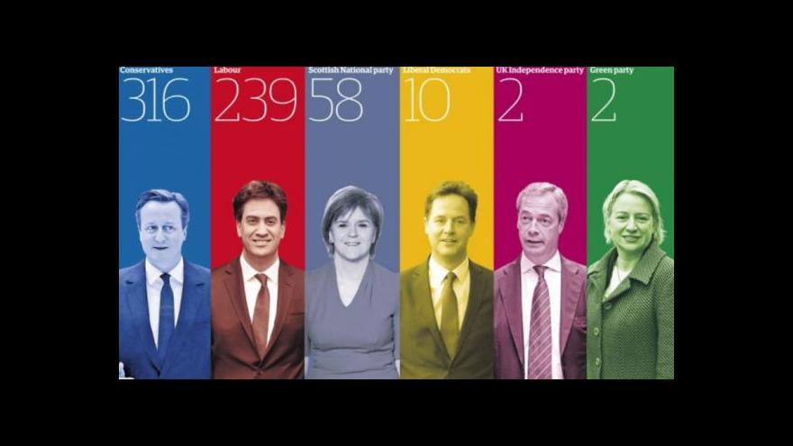 Video Horizont ČT24 k prvním britským volebním odhadům