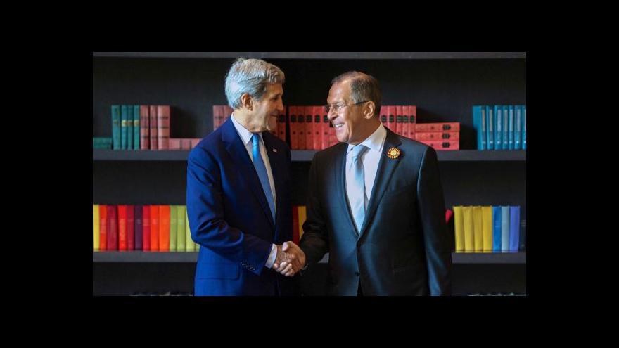 """Video Lavrov označil setkání s Kerrym za """"báječné"""""""