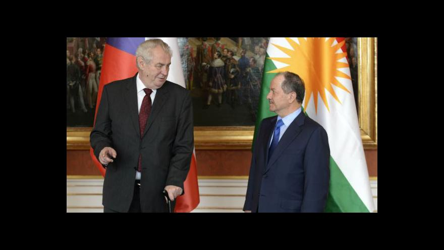 Video Prezident Kurdistánu požádal Česko o zbraně