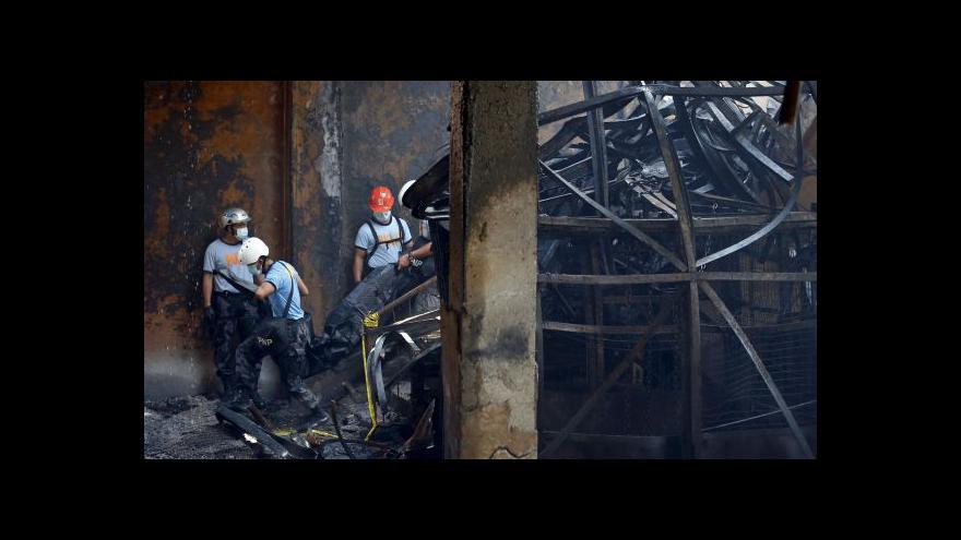 Video Sedm desítek mrtvých po požáru továrny v Manile