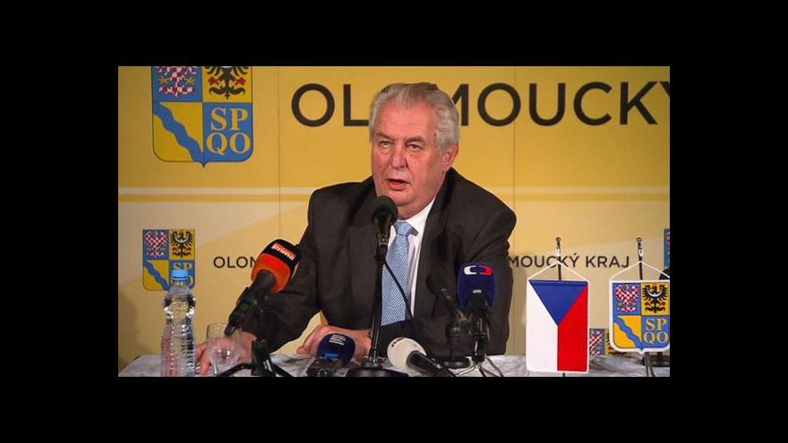 Video TK Miloše Zemana a hejtmana Olomouckého kraje