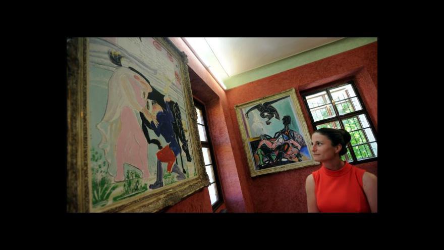 Video Emil Filla se vrátil na zámek v Peruci