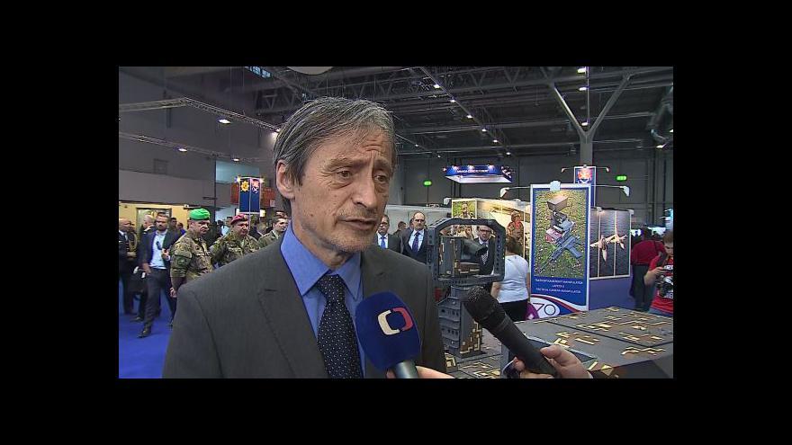 Video Ministr obrany Martin Stropnický (ANO) o výzbroji české armády