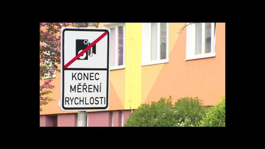 Video Konec měření rychlosti v Sokolově