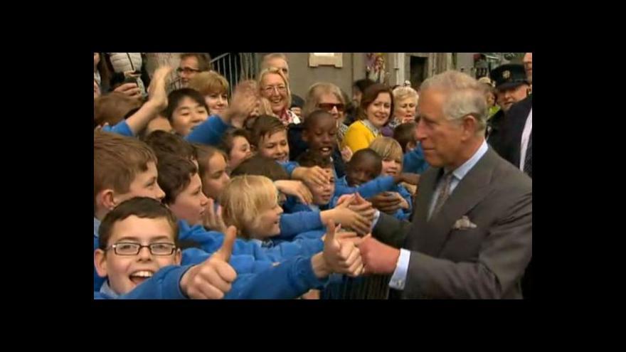 Video Princ Charles navštívil vesnici Mullaghmore