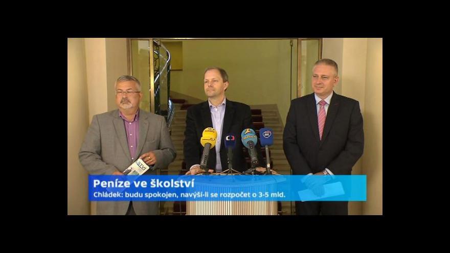Video Brífink po jednání ministra školství s odbory