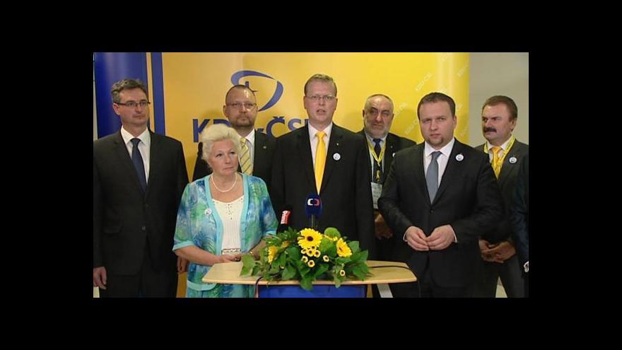 Video Události ČT: Lidovci si zvolili nové vedení