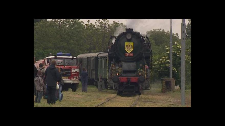 Video Rakouský císař i ruský car dorazili parním vlakem