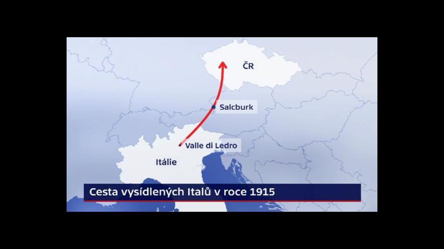 Video Události ČT: Před sto lety našli Italové pomoc v Čechách