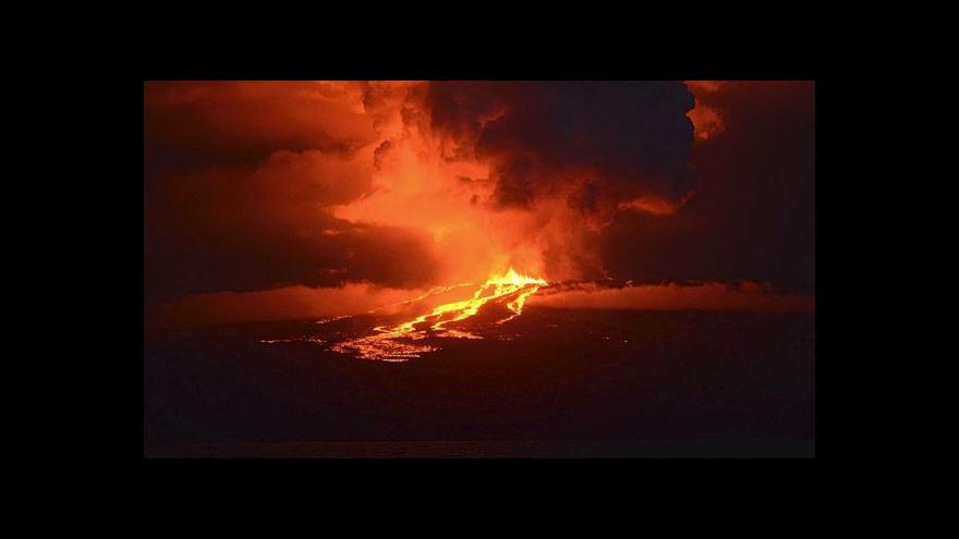 Video Galapágy: Vulkán ohrožuje leguány (zdroj: YouTube CBSN)