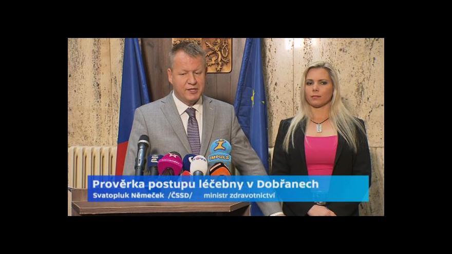 Video Zprávy: Ministr odvolal šéfa nemocnice v Dobřanech