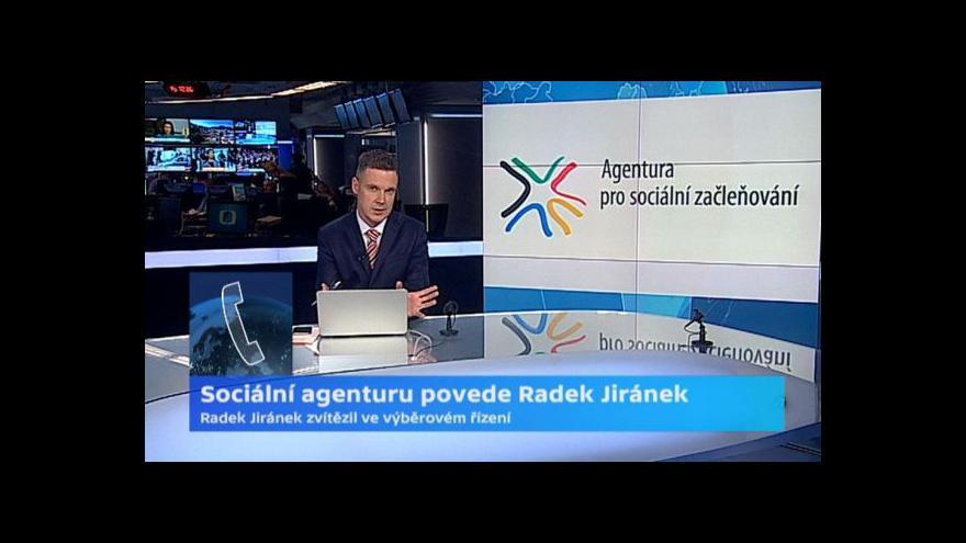 Video Agentura pro sociální začleňování bude mít nového šéfa