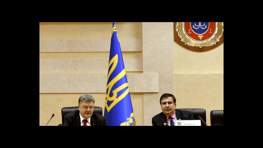Video Saakašvili je novým oděským gubernátorem
