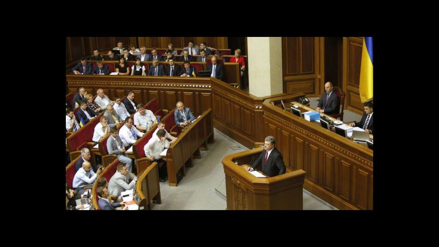 Video Projev Petra Porošenka o situaci na Ukrajině