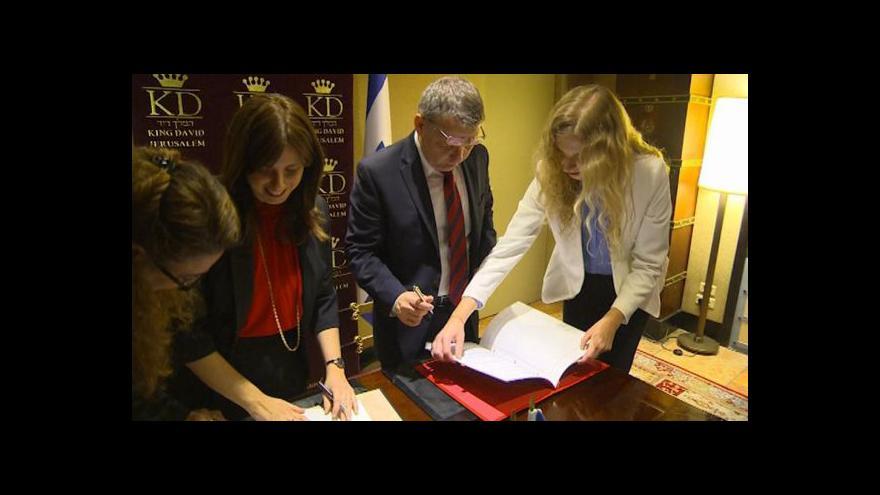 Video Události: Zaorálek v Izraeli - tvrdá slova i vzájemné dohody