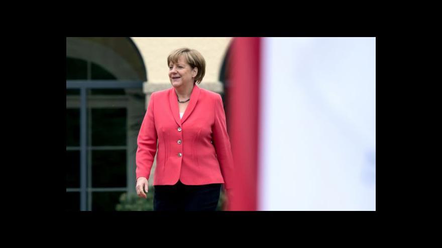 Video Merkelová: Bude-li vhodná situace, sankce budou zpřísněny