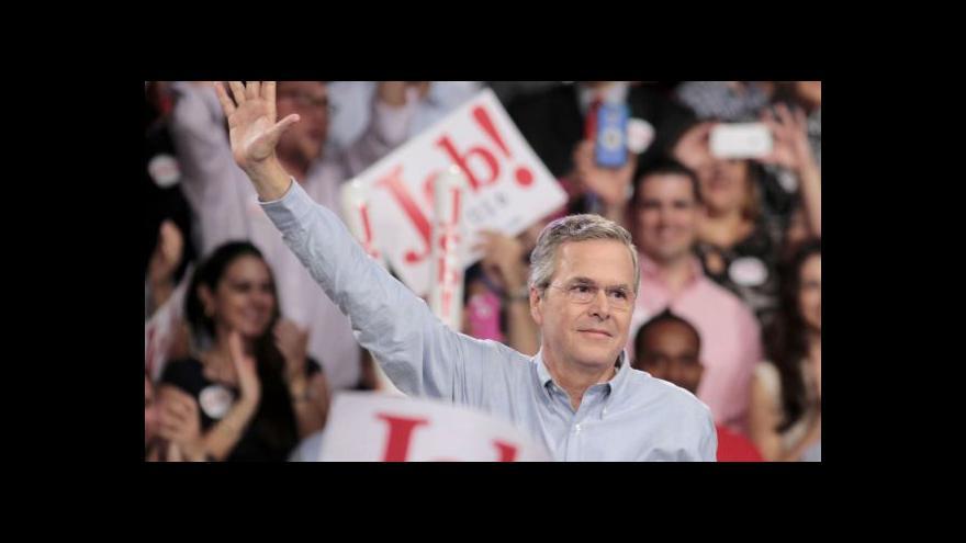 Video Jeb Bush oznámil prezidentskou kandidaturu