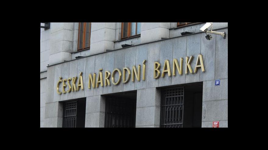 Video Brífink: ČNB vytvořila pro banky v případě hypoték několik doporučení