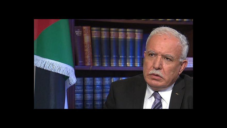 Video Palestinský ministr: Jsme proti útokům na civilisty