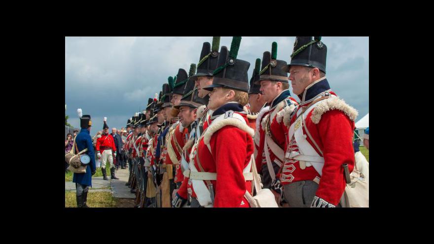 Video Potomci vojevůdců si u Waterloo podali ruce