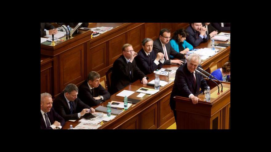 Video Zeman ve sněmovně: Rád podpořím zákon o prokázání majetku