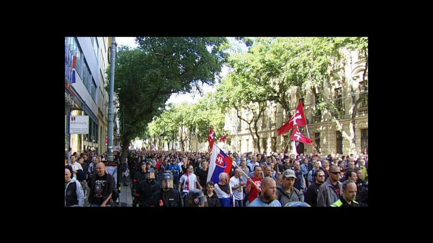 Video V Bratislavě demonstrovalo 5 tisíc lidí proti imigrantům