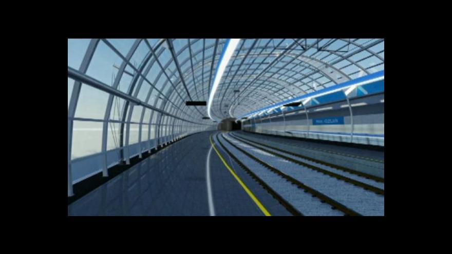 Video Rychlodráha by měla nahradit jednokolejnou železniční trať