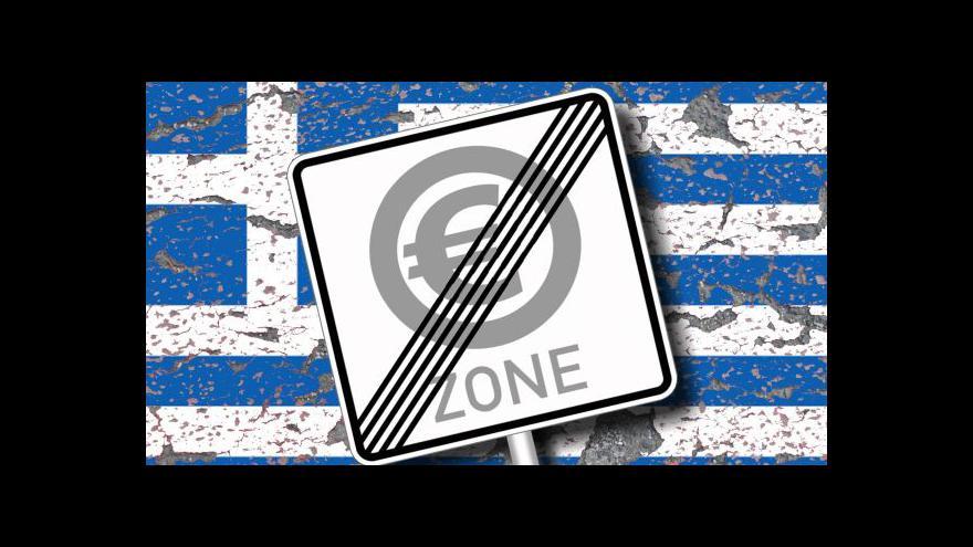 Video Vitásek: Eurozóna by se s případným bankrotem Řecka nějak vyrovnala