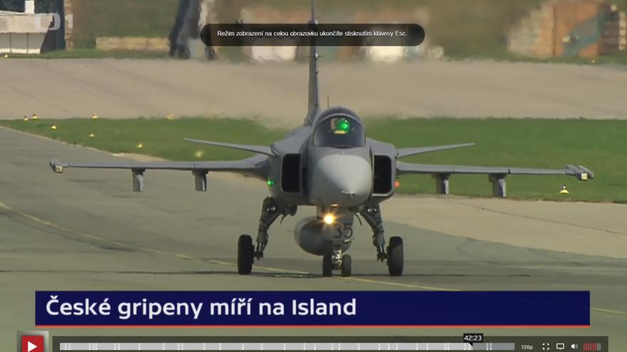 Video České gripeny se chystají na druhou misi na Islandu